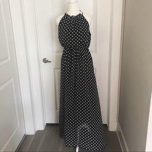Dresses & Skirts - Polka Dot Sleeveless Maxi Dress Sz. M